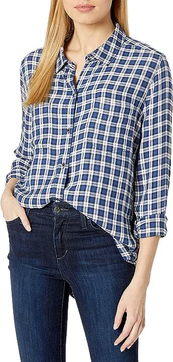 Amazon Brand - Goodthreads Women's Modal Twill Two-Pocket Relaxed Shirt