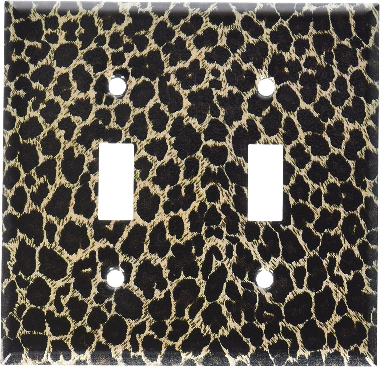 Amazon Com Art Plates Leopard Print Switch Plate Double Toggle Home Improvement