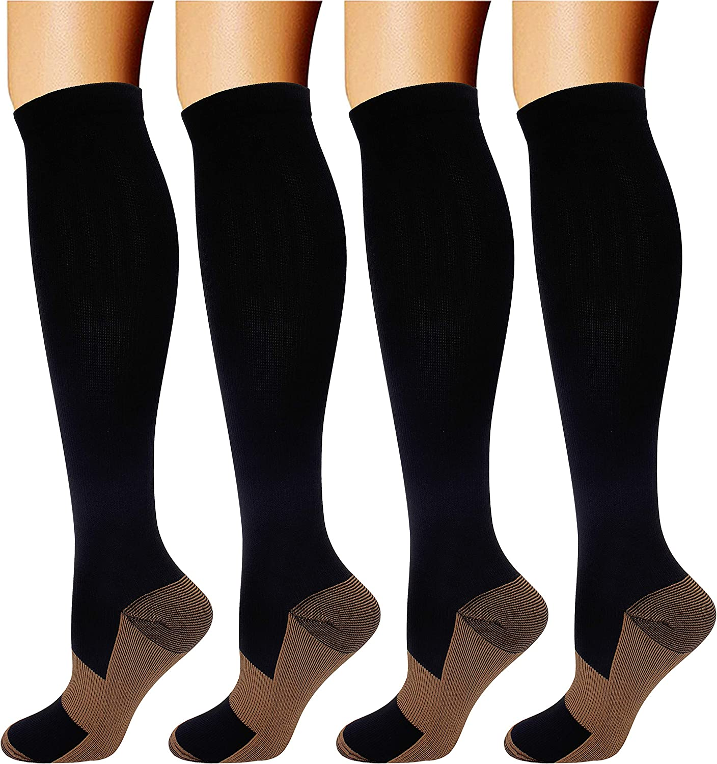 Amazon.com: 4 Pairs Compression Socks for Men recover faster after training