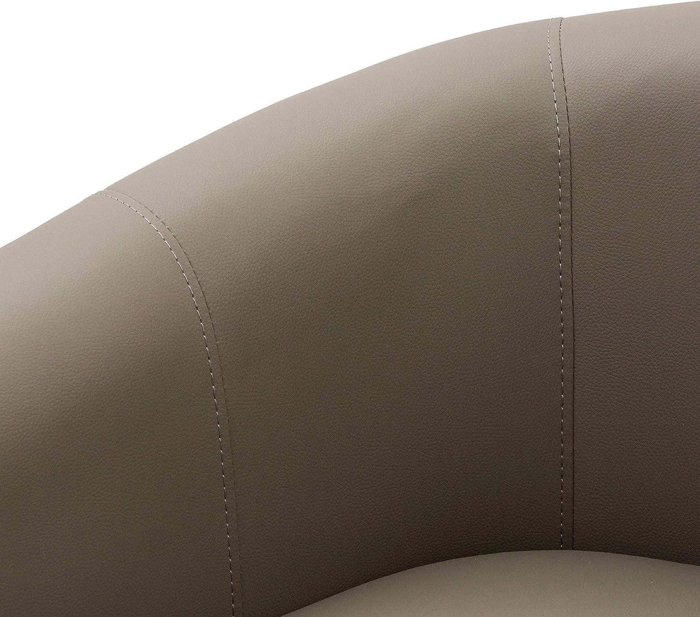 Cribel Patrizia 58 x 66 x 70 cm Poltrona con Struttura in Legno Tortora Medio Seduta Imbottita in Poliuretano e Rivestimento in Similpelle