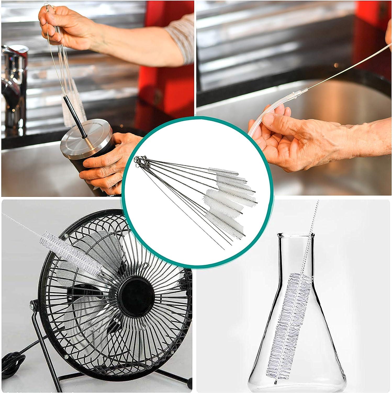HOME-X Juego de cepillos para limpiar pajitas y desagües ...