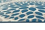 Rugshop Circles Design Area Rug, 5' x 7', Blue