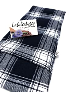 """Large microwavable heating pad, The""""Flax Sak"""" Hot/cold pack with removable/washable cover. Unscented,or Organic Lavender,Eucalyptus, Chamomile or Peppermint, Relaxing Gift, Pain Relief Spa gift"""