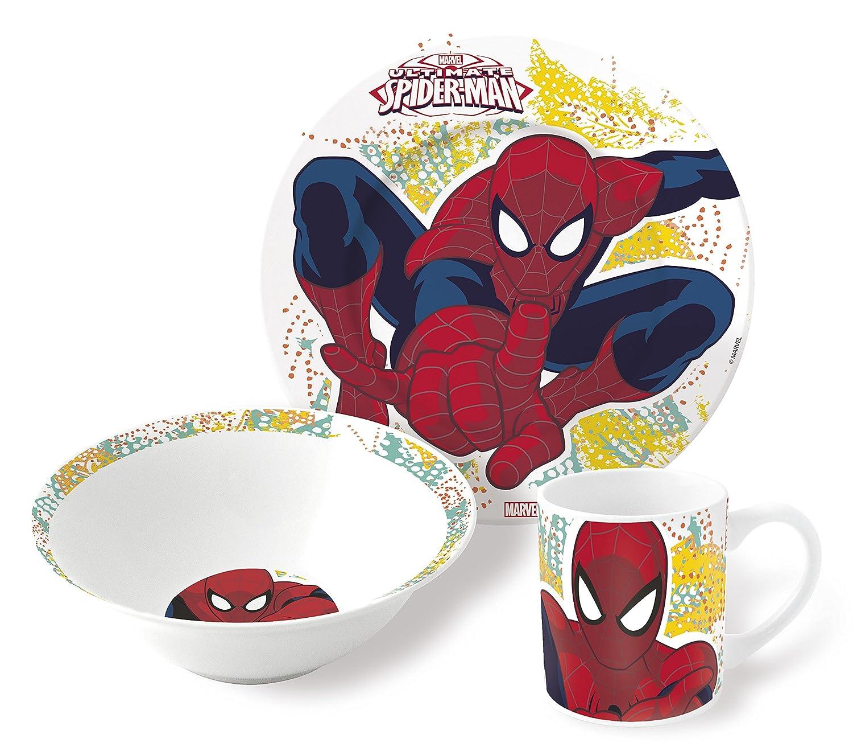 Spiderman Estuche Regalo Set merienda Ceramica (Cuenco+Plato Postre+Taza) (STOR 78365): Amazon.es: Juguetes y juegos