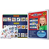 "SchKIDules Visual Schedules ""3 Pc Home Bundle"" w/Double-Sided Dry Erase Magnetic Board, 19 Pc Headings Sheet and 72 Home-Themed Activity Magnets"