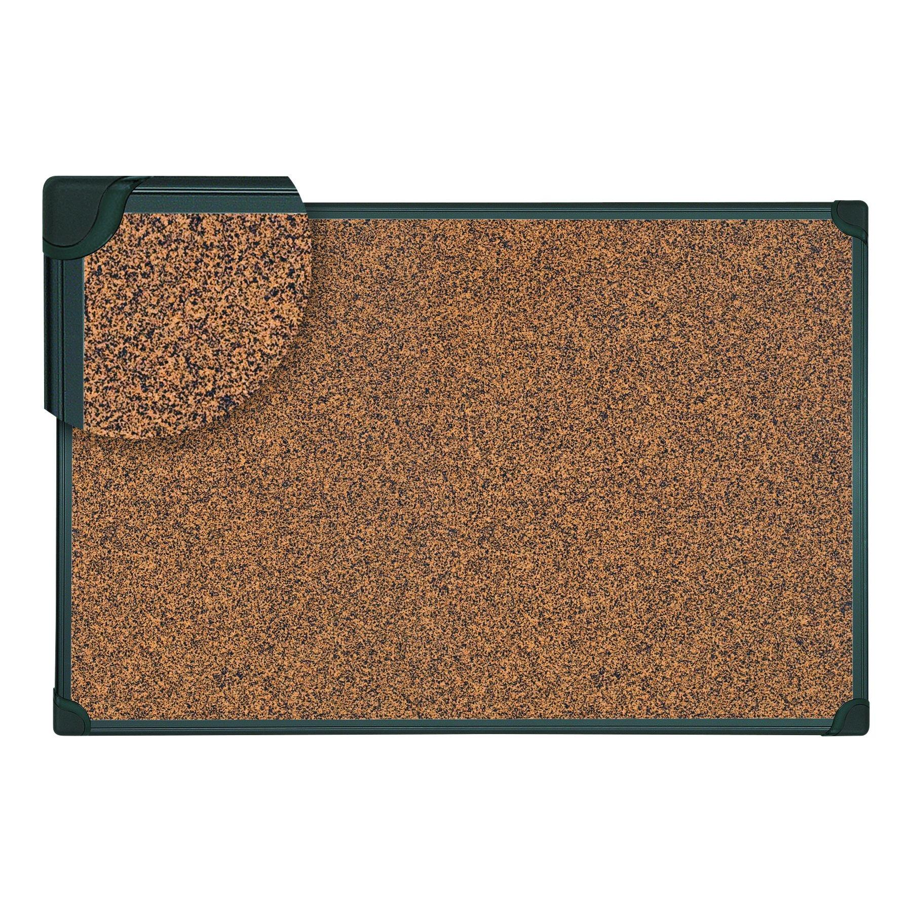 Universal 43022 Tech Cork Board, 36 x 24, Cork, Black Plastic Frame