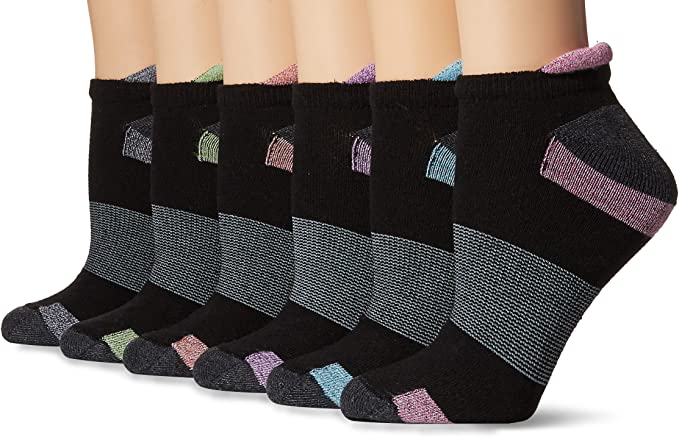 Details about  /Hanes Sport Women/'s Cool Comfort Ankle Socks 6-Pack Style 4A3L6