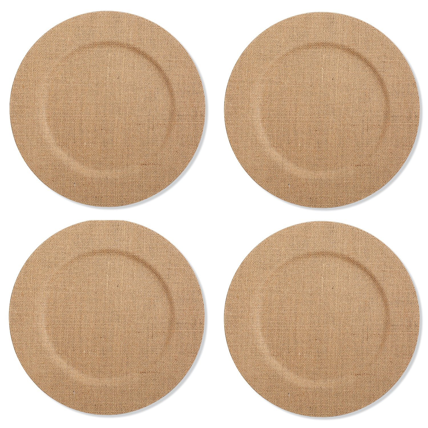 Mud Pie Burlap Covered Dinner Plate Charger (Liner) Set of 4  sc 1 st  Amazon.com & Amazon.com: Charger u0026 Service Plates: Home u0026 Kitchen
