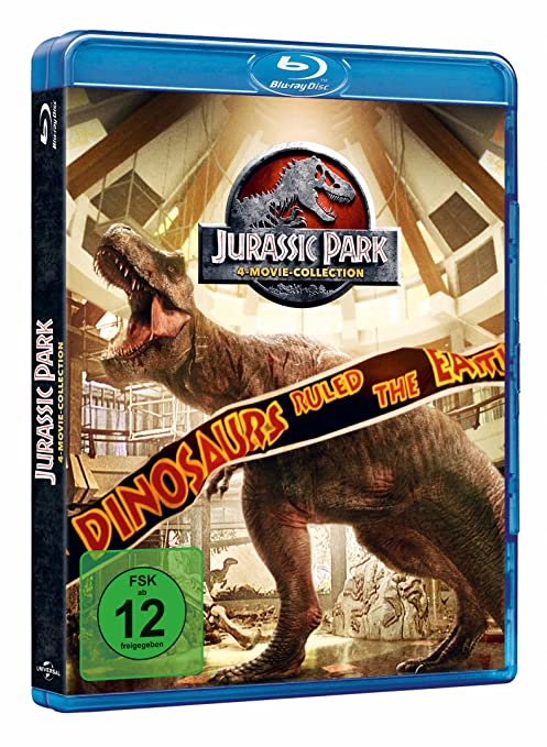 Jurassic Park 1-3 + Jurassic World 1 Alemania Blu-ray: Amazon.es: Laura Dern, Jeff Goldblum, Sam Neill, Richard Attenborough, Julianne Moore, ...
