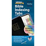 Tabbies Rainbow Bible Indexing Tabs, Old & New Testaments, 80 Tabs Including 64 Books & 16 Reference Tabs, Multi-Colored…