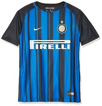 Nike Inter Y Nk BRT Stad JSY SS Hm Camiseta 1ª equipación Atlético de Madrid 17-18, Unisex niños: Amazon.es: Deportes y aire libre