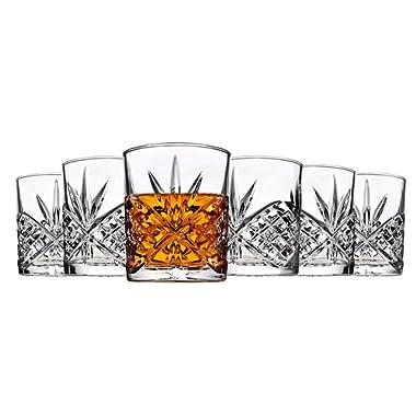 Godinger 25736 Dublin Crystal Set of 12 Double Old Fashioned Glasses
