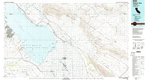 Amazon.com : YellowMaps Salton Sea CA topo map, 1:100000 ... on lake minnetonka on a map, van nuys on a map, caspian sea on a map, el capitan on a map, santee on a map, grand coulee dam on a map, golden gate bridge on a map, imperial valley on a map, imperial beach on a map, marina del rey on a map, owens lake on a map, tehachapi on a map, aral sea on a map, newberry springs on a map, colorado river on a map, sea of galilee on a map, hemet on a map, california city on a map, san joaquin river on a map, palo verde on a map,