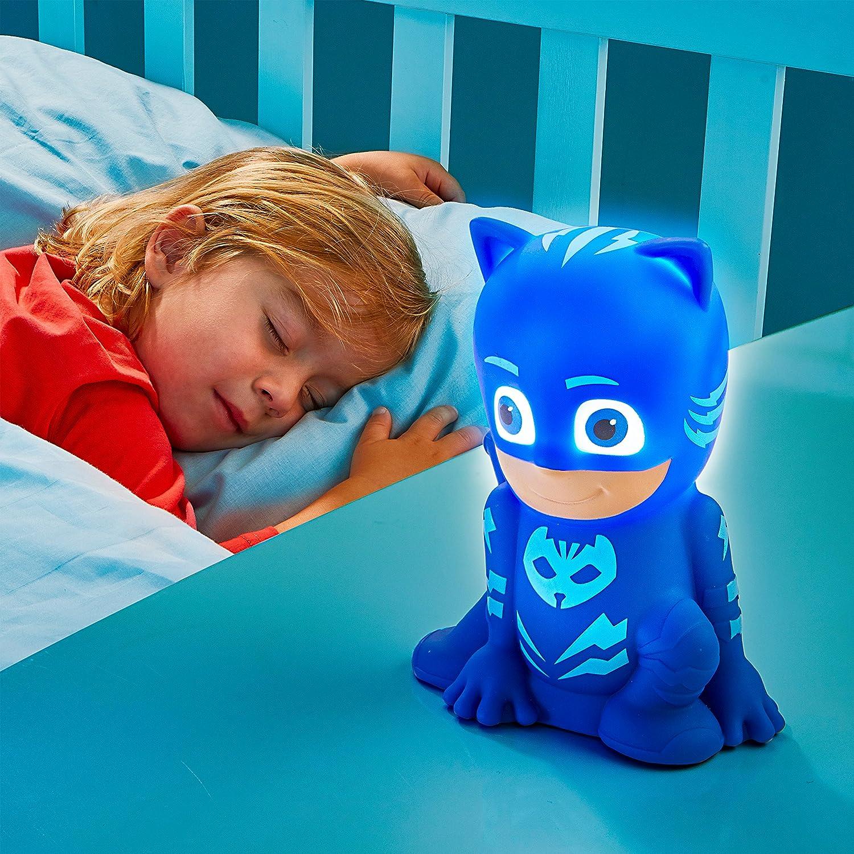 GoGlow PJ Masks Linterna y Luz de Noche Azul Norme