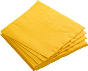 Exquisite 300 Pack of Beverage Paper Napkins The 2 Ply Party Napkins are Highly Absorbent and Available in a Wide Range of Vibrant Colors - Yellow Napkins