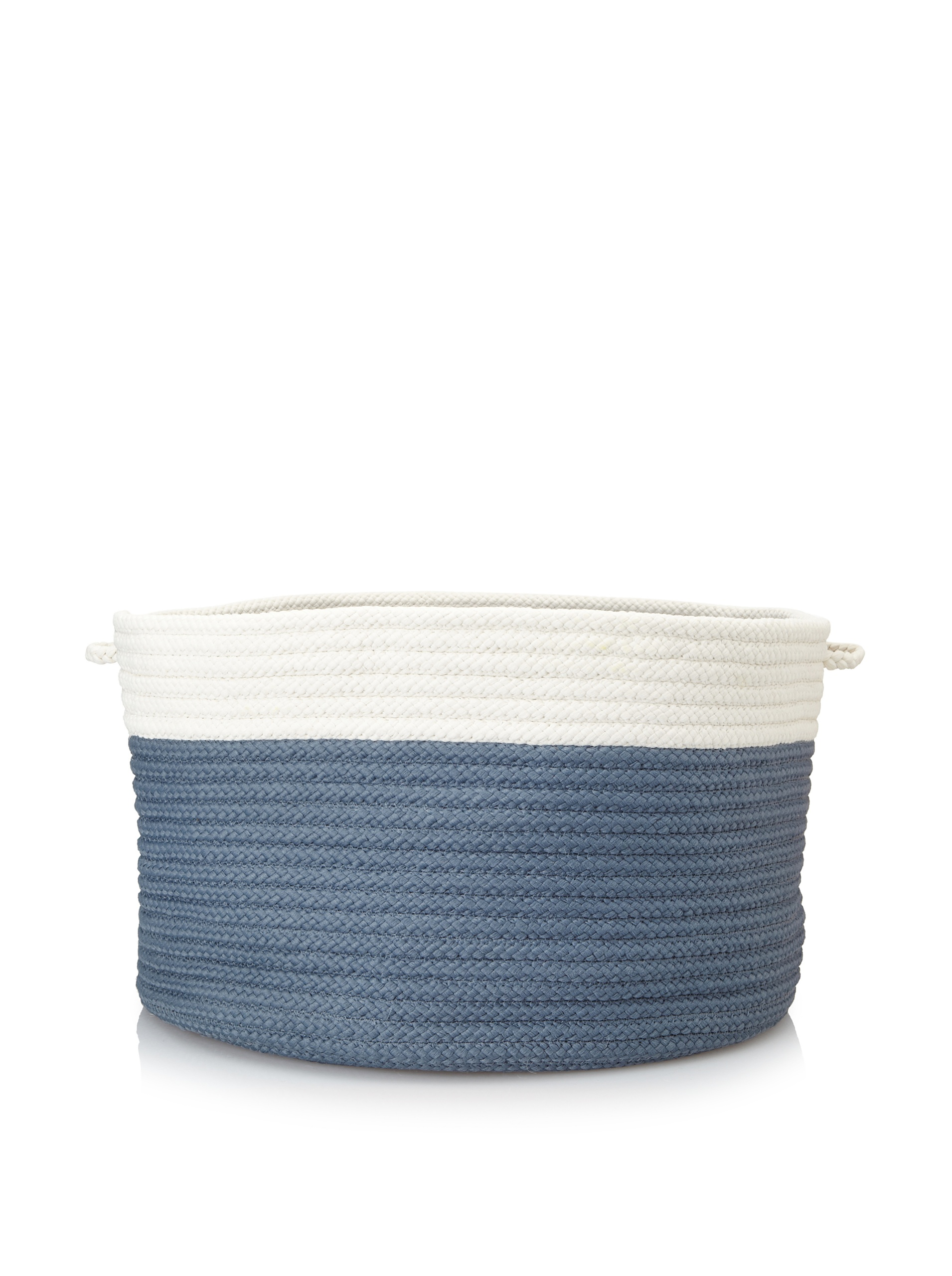 Colonial Mills Indoor/Outdoor Two-Toned Storage Basket, Lake Blue