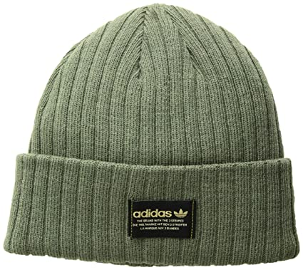 c72ba1e7 Amazon.com: adidas Men's Originals Rib Beanie, Base Green/Black/Gold ...