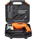 Black+Decker HD555KA50 13mm 550 Watt Impact Drill Kit (50 Accessories), Orange
