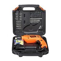 BLACK+DECKER HD555KA50 13mm 550 Watt Impact Drill Kit (50 Accessories), Orange