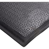 """Andersen 465 Happy Feet Nitrile Rubber Texture Surface Anti-Fatigue Interior Floor Mat with Black Border, 3' Length x 2' Width, 1/2"""" Thick"""
