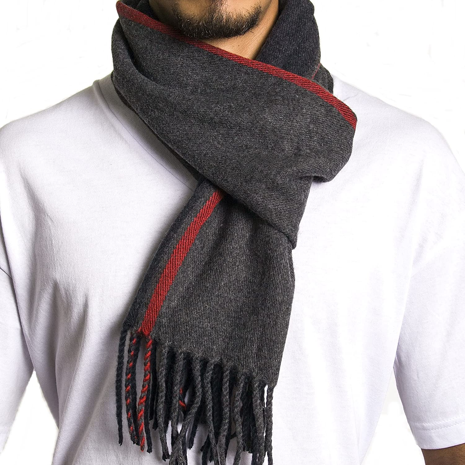 Alpine Swiss Mens Plaid Scarf Soft Winter Scarves Unisex Black Plaid One Size By Alpine Swiss