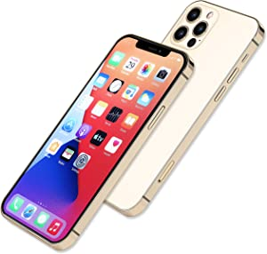 [Full Metal] Dummy Phone Display Model Compatible with Apple iPhone 12 Pro Max 12 Mini Non-Working Upgraded Metal Frame (12pro max Gold colorscreen)