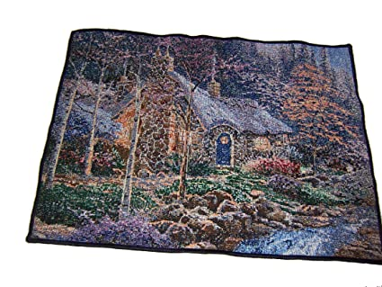 Prime Mohawk Home Twilight Cottage Tapestry Placemat Set Of 4 By Thomas Kinkade Home Interior And Landscaping Ologienasavecom
