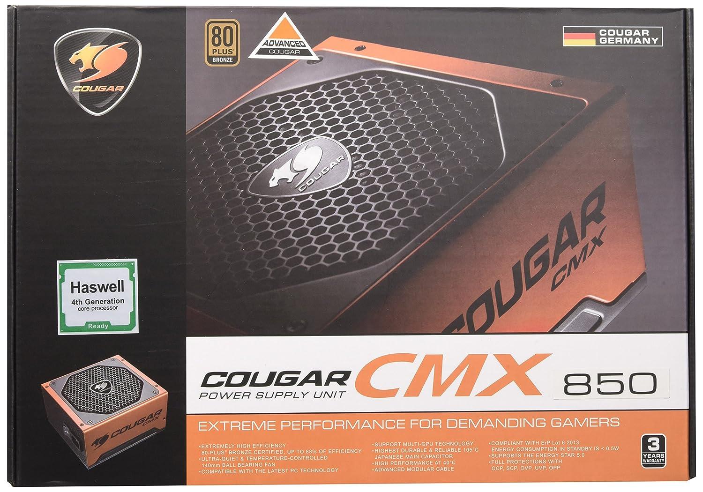 Cougar - Fuente de alimentación Modular para Videojuegos (850 W ...