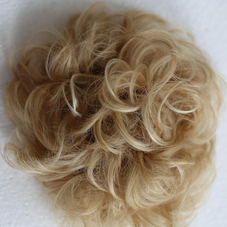 Prettyshop XXXL Haarteil Haargummi Hochsteckfrisuren, VOLUMINÖS, gelockter, unordentlicher Dutt schwarz #1 HW6 VOLUMINÖS