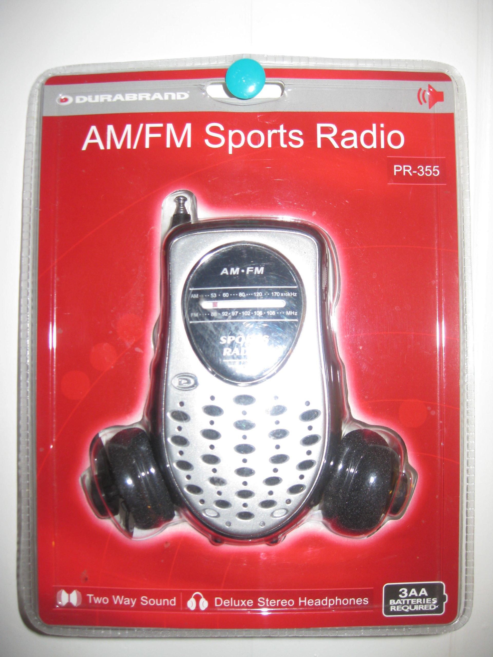 Am/fm Sports Radio Two Way Sound Deluxe Stereo Headphones Pr-355