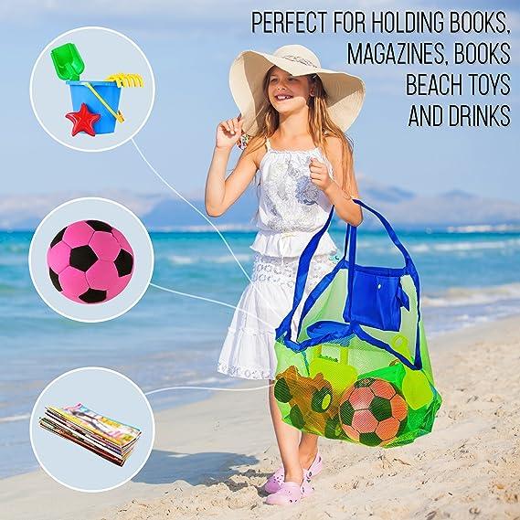 Bolsa de Malla para Arena de la Playa - Perfecta para Juguetes de Niños / Toallas etc - Ideal para Piscina - Bolsa Increíble para Verano: Amazon.es: ...