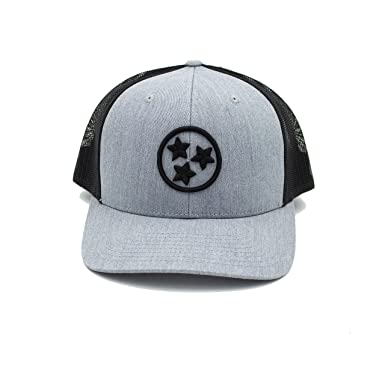 03f68b3a Cotton Mule Grey 3D Tristar Trucker Hat at Amazon Men's Clothing store: