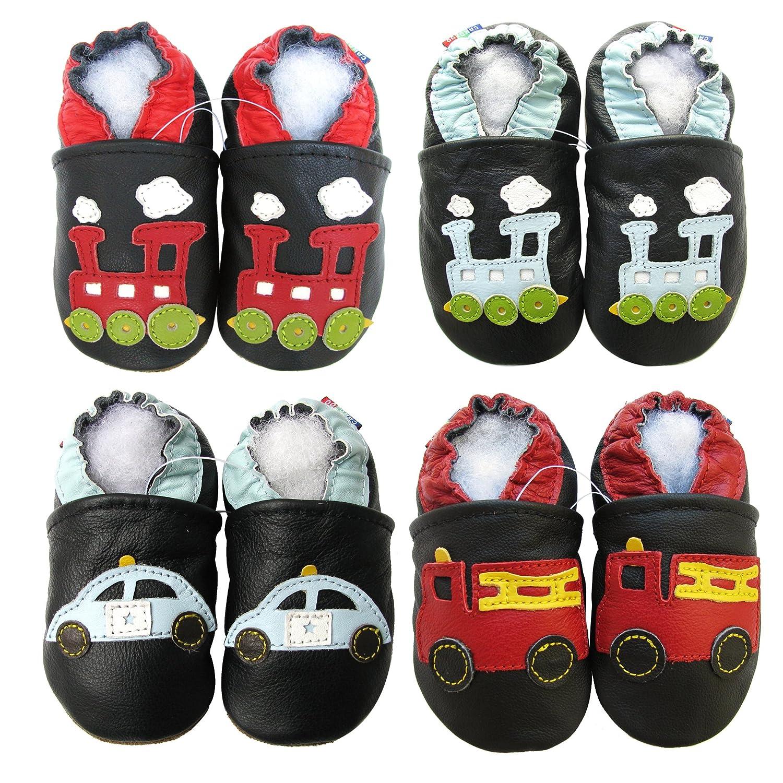 Carozoo weiche Sohle Leder Babyschuhe Krabbeln Schuhe Laufschuhe Krippe Enfants Hausschuhe Neugeborenen Auto und LKW (0-6 Monate bis 7-8 Jahre)