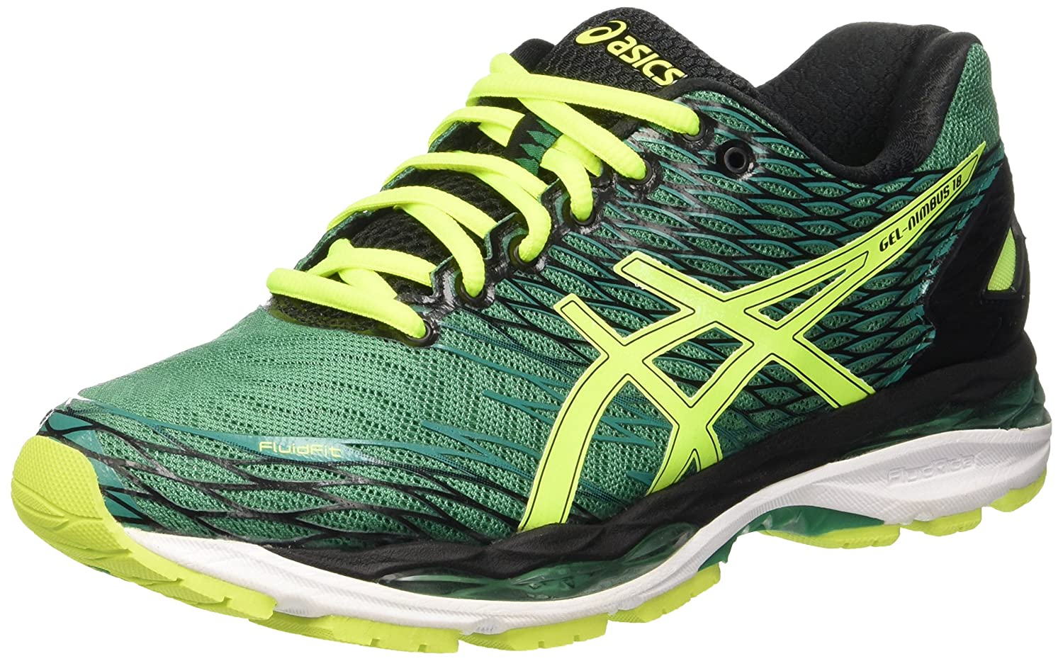 Asics Unisex Adults' Gel Nimbus 18 Running Shoes, Green (Pine/Flash  Yellow/Black), 5 UK: Amazon.co.uk: Shoes & Bags