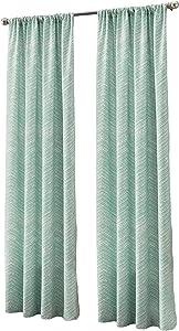 "Peri Home Textured Fossil Curtain Panel, 84"", Aqua"
