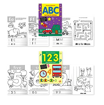 Amazon.com : Preschool Activity Book Pack - 2 Books included:
