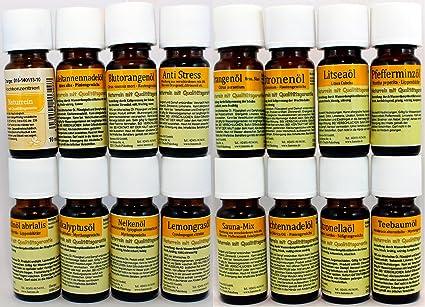 Set de 16 Botellas de Aceites Esenciales Puros para Aromaterapia ...