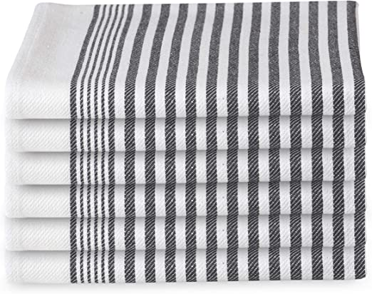 12-Pack Classic Stripe 100/% Cotton Kitchen Towel /&Dish-Towel Quick Dry Absorbent