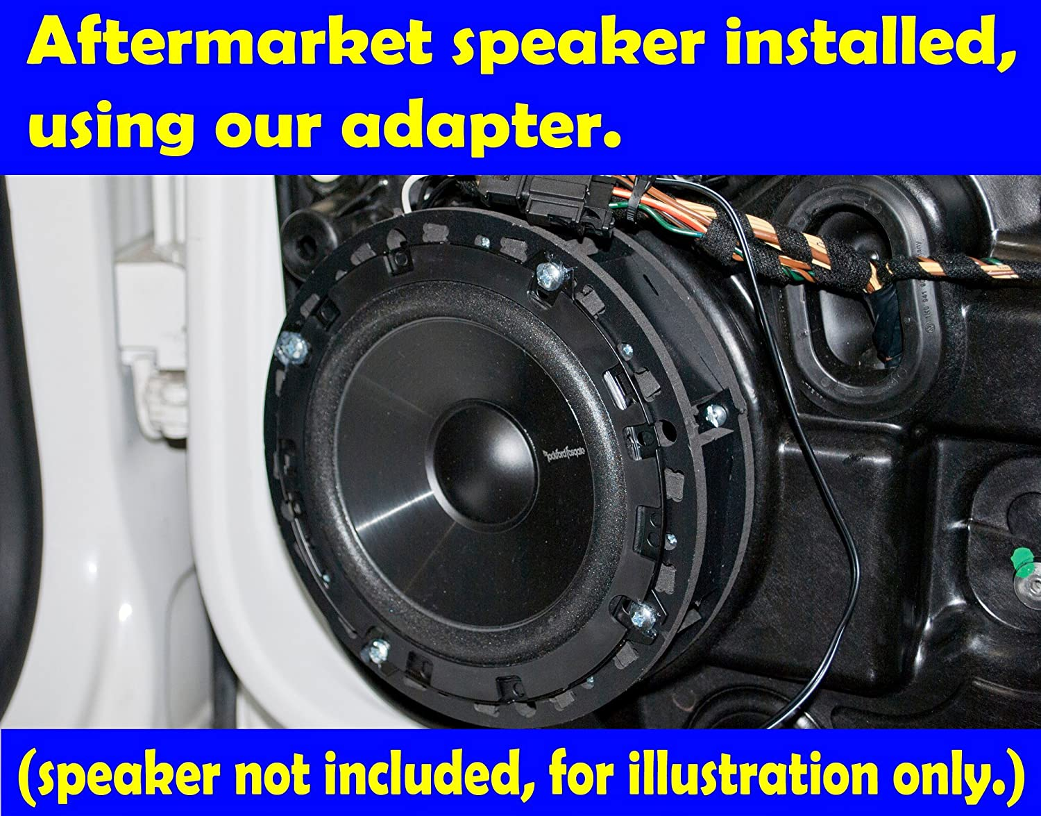 Exact Fit Speaker Adapter Spacer Rings For Volkswagen Wiring Additionally 10 Inch Alpine Subwoofer Type R On Vehicles Sak023 55 1 Pair Car Electronics