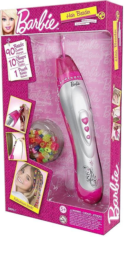 Desconocido Grandi Giochi GG00402 Barbie - Máquina para hacer trenzas con cuentas