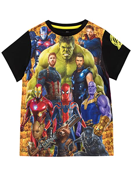 c43b67b3b47d9 Marvel Boys Avengers T-Shirt: Amazon.ca: Clothing & Accessories