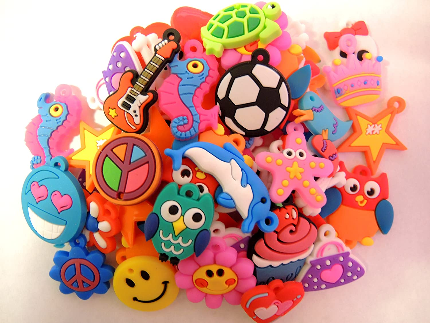 1 X 105 Assorted Rubber Charms by Buy_Stuff_Here_Looms! JP-LOOM-B00J5RLIFK-FBA