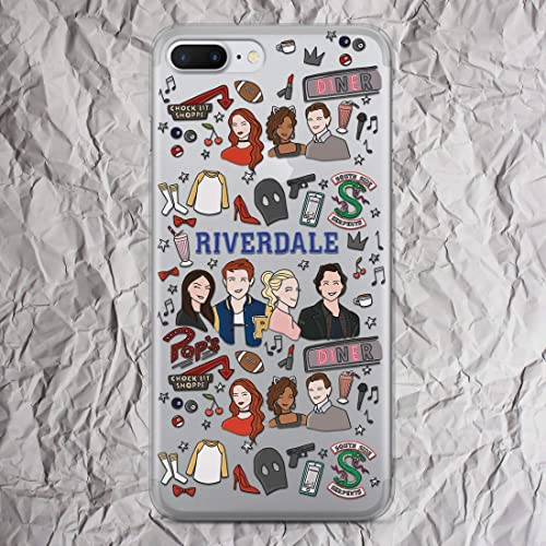 0f5c2030bfd Riverdale iPhone 7 8 6 6s plus X Xs Max Xr 5 i Phone case Pops Chocklit  Shoppe Southside Serpents Print for iphone 5s se 5se 4 4s Clear Silicone  TPU Cover
