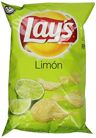 Lay de limón Flavored patatas chips 10oz Bolsa: Amazon.com ...