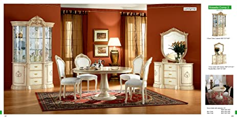 Amazon.com - ESF Rossella 5 Pieces Traditional Ivory Finish ...
