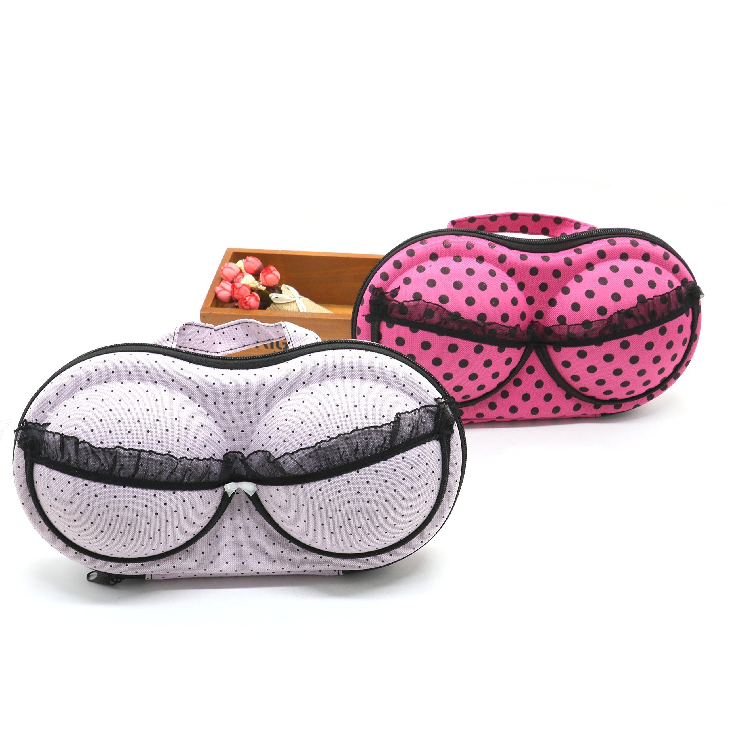 2Pcs Travel Home Organizer Zip Bag Case Bra Underwear Lingerie Case Storage Bag