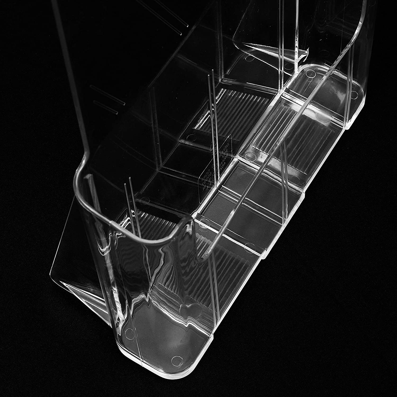 27.5cm de Altox 23cm de Anchox 4cm de Profundidad Soporte para Documento Tama/ño A4 Soporte Acr/ílico Transparente de Pared y Sobremesa para Revista -Expositor Folleto 1 Compartimento Pack de 2