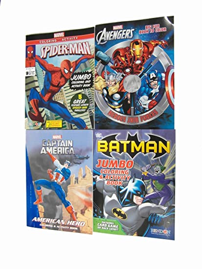 Amazon.com: Marvel Coloring and Activity Books - Ultimate Gift Set ...