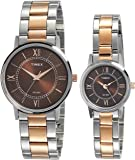 TIMEX Analogue Brown Dial Couple Watch - TW00PR214