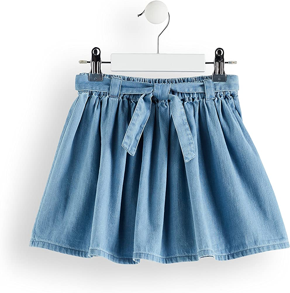 Marca Amazon - RED WAGON Falda Vaquera Niñas, Azul (Blue), 134 ...